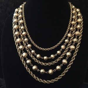 Jewelry - Vintage Capri 5-Strand Necklace K009